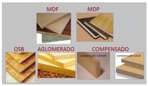 Qual a diferença entre MDF, MDP, AGLOMERADO, COMPENSADO E OSB?